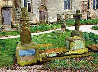 Saxon cross in graveyard of Brailsford Church