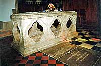 St Bertram's Tomb at Ilam Church