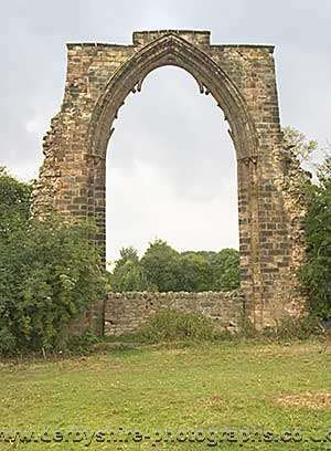 Photograph from  Dale Abbey in Derbyshire