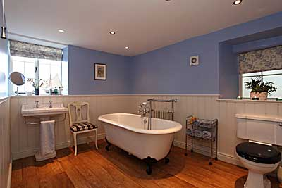 Bath Room   at Derwent  House,  luxury holiday accommodation at Matlock in  Derbyshire