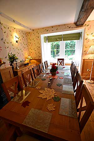 Dining Room  at Derwent House,  luxury holiday accommodation at Matlock in  Derbyshire