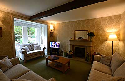 Sitting Room at Derwent House,  luxury holiday accommodation at Matlock in  Derbyshire