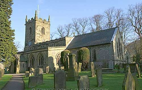 Parish Church of St Lawrence at Eyam in Derbyshire
