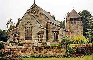 Church of St John the Baptist in Smalley village, Derbyshire