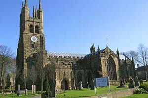 St John the Baptist church at tideswell in Derbyshire