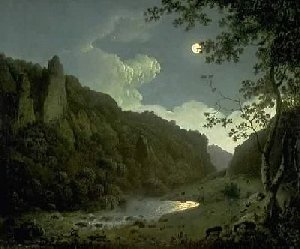 Painting called Dovedale by Moonlight, by Joseph Wright